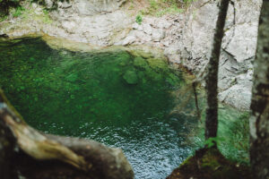 Crooked Creek Falls deep swimming hole