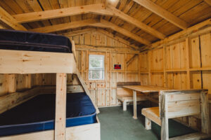 bunked cabin