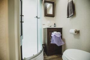 RV trailer bathroom
